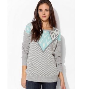 Urban Outfitters Ecote Intarsia geometric sweater